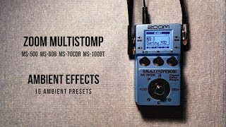 Zoom MultiStomp Ambient Effects (16 Ambient Presets for MS-50G, MS-70CDR, MS-60B, MS-100BT)