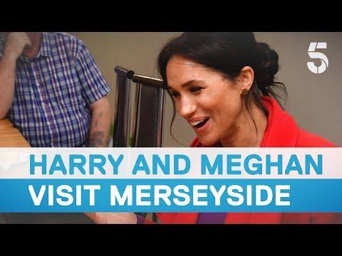 Meghan Markle and Prince Harry visit Birkenhead, Merseyside - 5 News