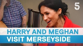 Meghan Markle and Prince Harry visit Birkenhead, Merseyside - 5 News