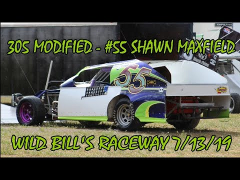 In Car - 305 Modified - #55 Shawn Maxfield - Wild Bill's Raceway 7/13/19