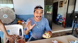 """""""EL GATO PARADO"""" comiendo jaibas cocidas en el cerro Cabezón con los cochis sin cola"""