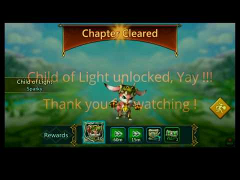 Lords Mobile Hero Stages Chapter 4 Walkthrough & Unlocking Child Of Light.