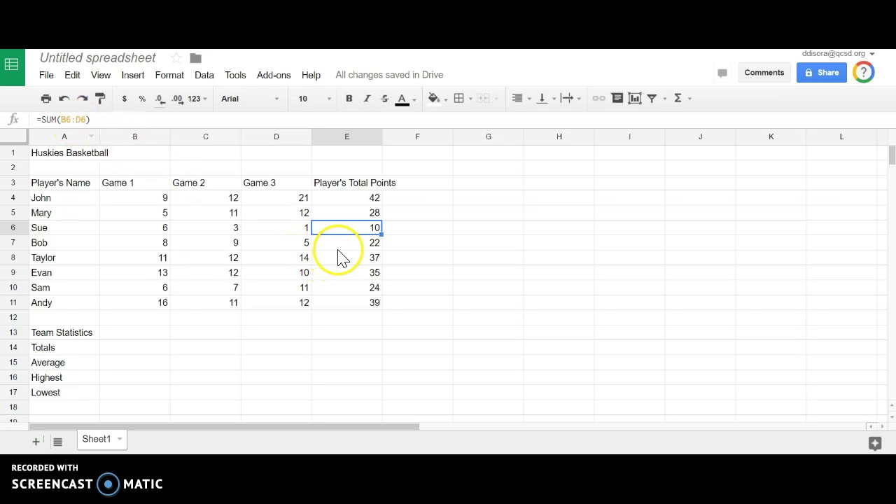 Fill Formulas in Google Sheets - YouTube