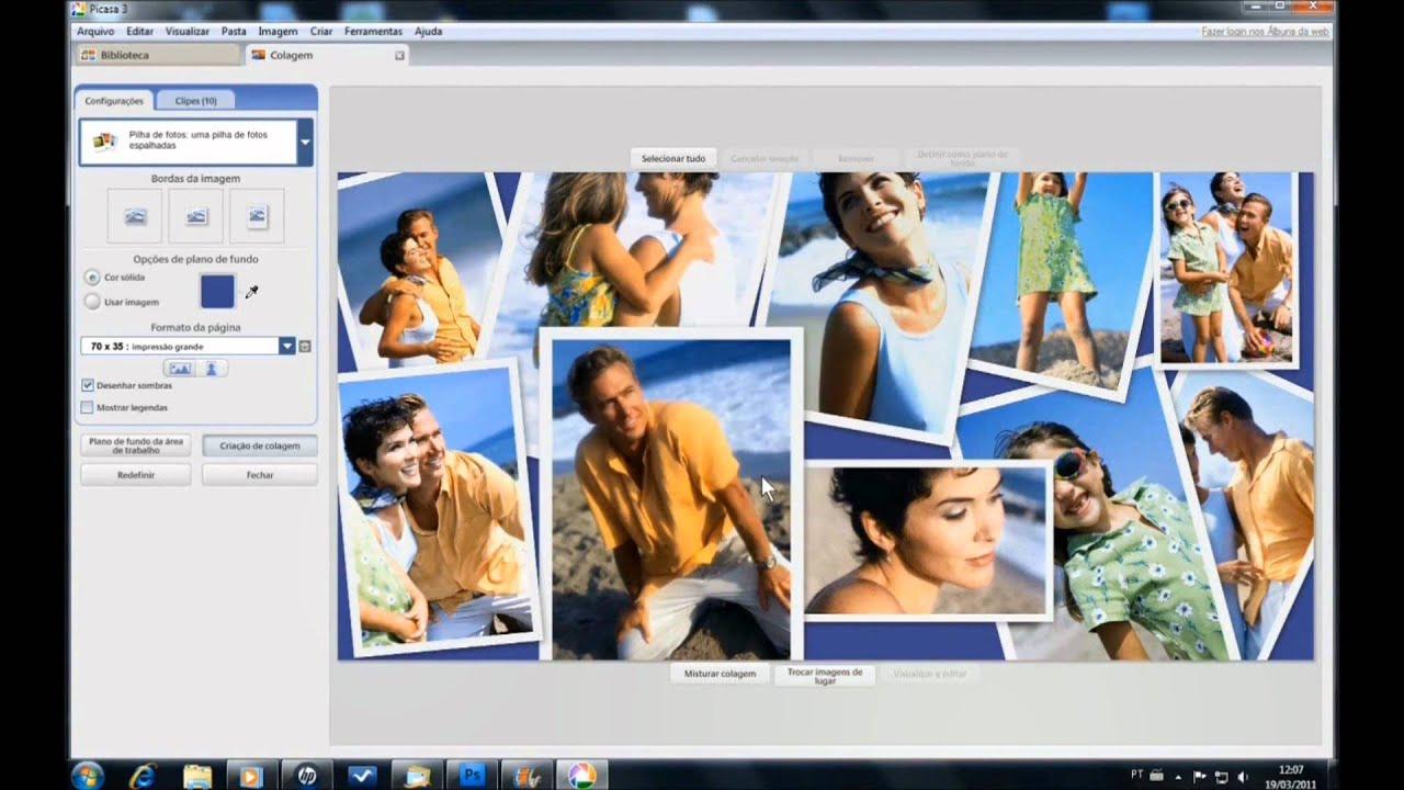 Como fazer painel de fotos no photoshop