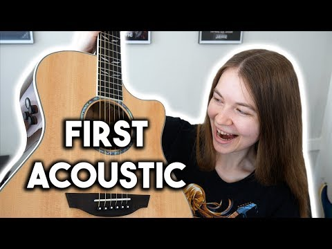 Playing Acoustic Guitar For The First Time!