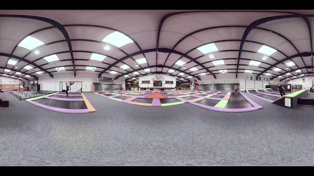 jump factory trampoline park in basingstoke 360 video. Black Bedroom Furniture Sets. Home Design Ideas