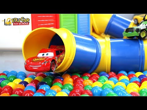 Thumbnail: Learning Color Special Disney Pixar Cars Lightning McQueen Mack Truck Gum Ball for kids car toys