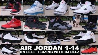 AIR JORDAN 1-14 SNEAKERS ON FEET