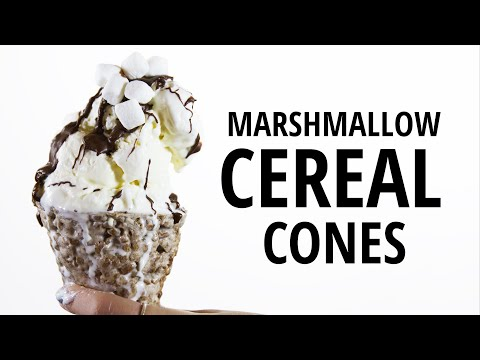 How to Make Massive Ice Cream Cones out of Cereal and Marshmallows | HuffPost Life