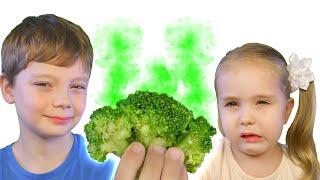 Kids Try not tasty Food | Max & Sofi try 😋