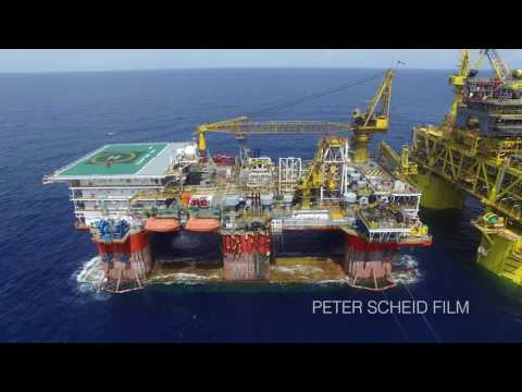 Malikai Deep-Water Project. Aerial Drone Footage/Flycam DJI 100 KM Offshore Sabah, Borneo
