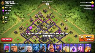Clash of Clans | HOW TO FARM | So Much Loot TH9 best Loot Attack Strategy