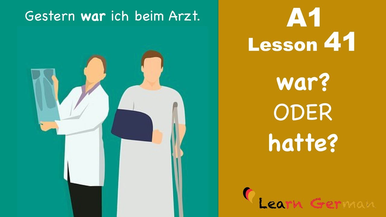 Learn German | war oder hatte | German for beginners | A1 - Lesson 41