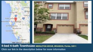 4-bed 4-bath Townhouse for Sale in Brandon, Florida on florida-magic.com