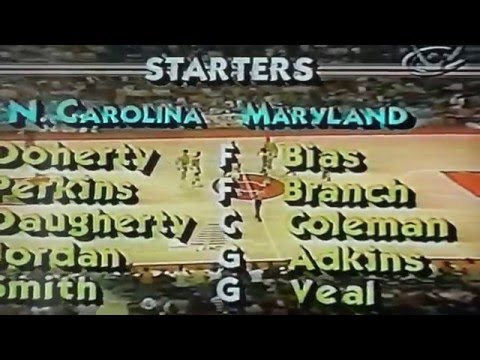 1984 NCAA ACC North Carolina vs Maryland Michael Jordan Len Bias