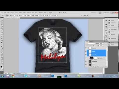 Мэрлин Монро на темной футболке