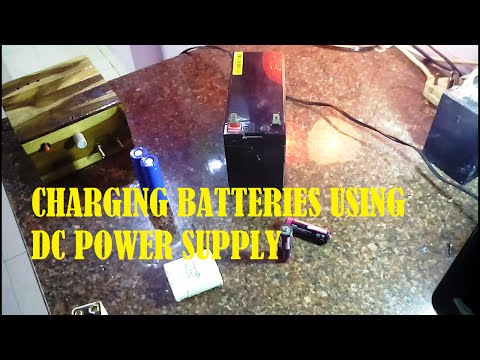 Charging batteries using DC power supply
