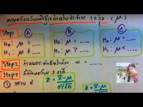 สถิติบท6 สรุป5ขั้นตอน การทดสอบสมมติฐานค่าเฉลี่ย1ประชากร(1)