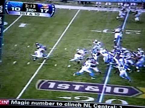 Adrian Peterson 80 yard rushing TD vs Lions