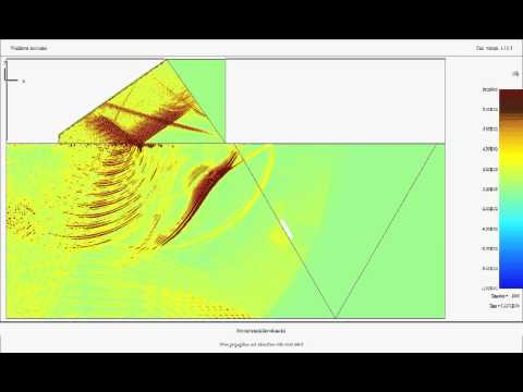 PZFlex - NDT: shear wave weld inspection from a phased array