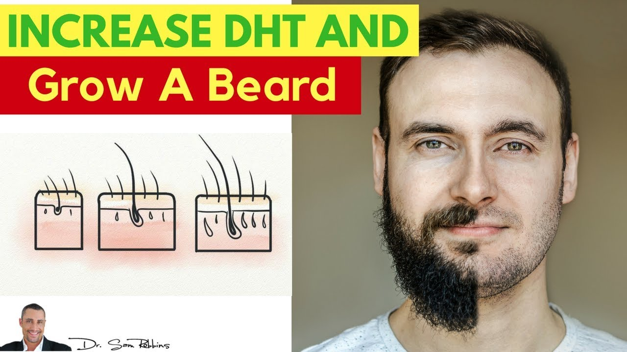 Andractim gel for facial hair growth