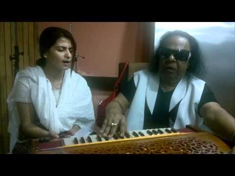 Ravindra Jain Ji recording his new album with Ms. Pravin Khan