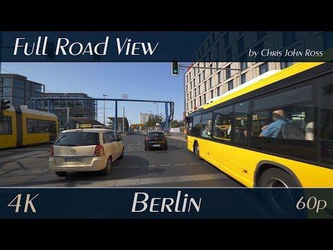 Berlin, Germany: Mitte, Moabit - Invalidenstraße, Alt-Moabit - 4K (UHD/2160p/60p) Video