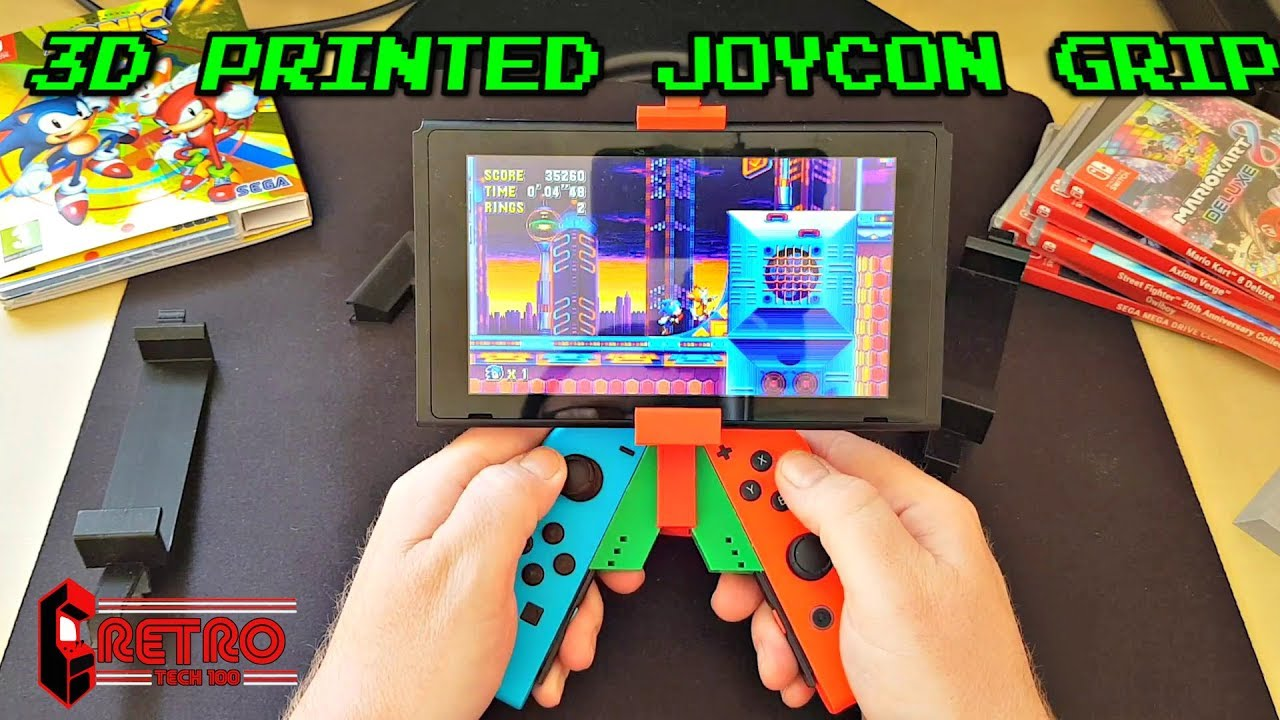 3D Printed Nintendo Switch Joy Con Grips from Mint Print UK