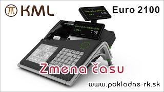 Zmena času - pokladnica Euro 2100