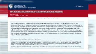 Social Security funds shrink with no fix imminent