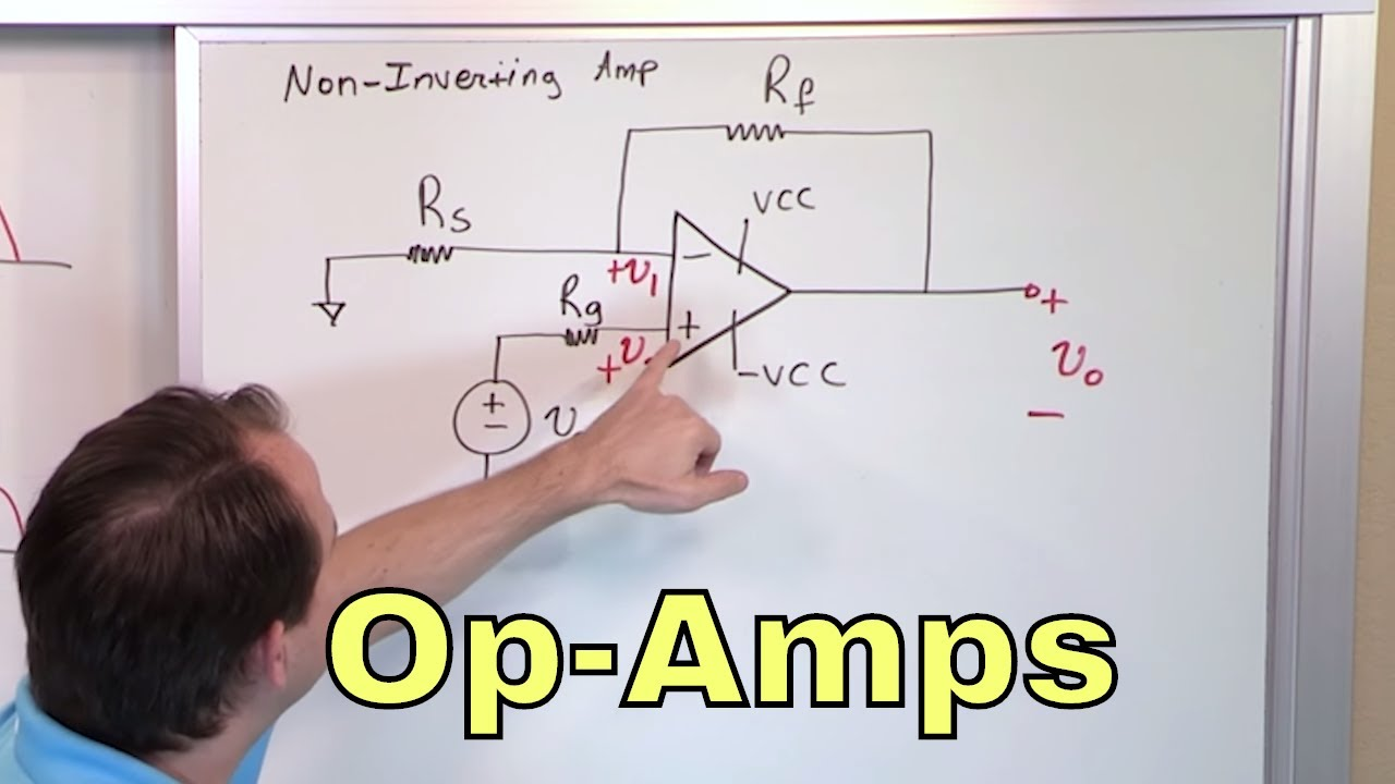 Circuit Diagram Of Non Inverting Amplifier Aus Trailer Plug Wiring 01 The Op Amp Youtube