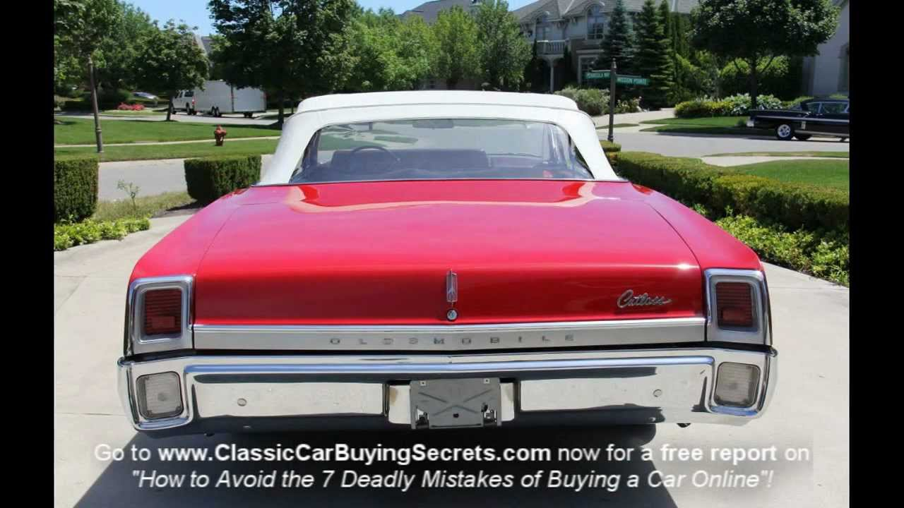 1967 Oldsmobile Cutlass Convertible Classic Muscle Car For Sale In MI Vanguard Motor Sales