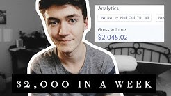 $2,000 IN A WEEK as a 17 Year Old | PERSONAL BRANDING | How to make money online