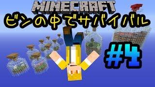 【Minecraft】ビンの中でサバイバル Part4 〜村の救世主〜