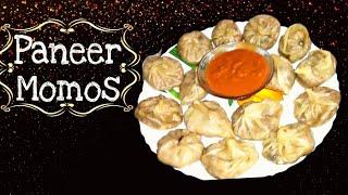 """Paneer Momos Recipe"" | Veg Paneer-Onion Momos | Veg Dim Sum recipe"