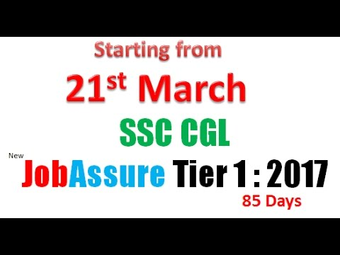 ssc cgl JobAssure  tier 1  2017  starting from 21st March by Pinnacle Coaching
