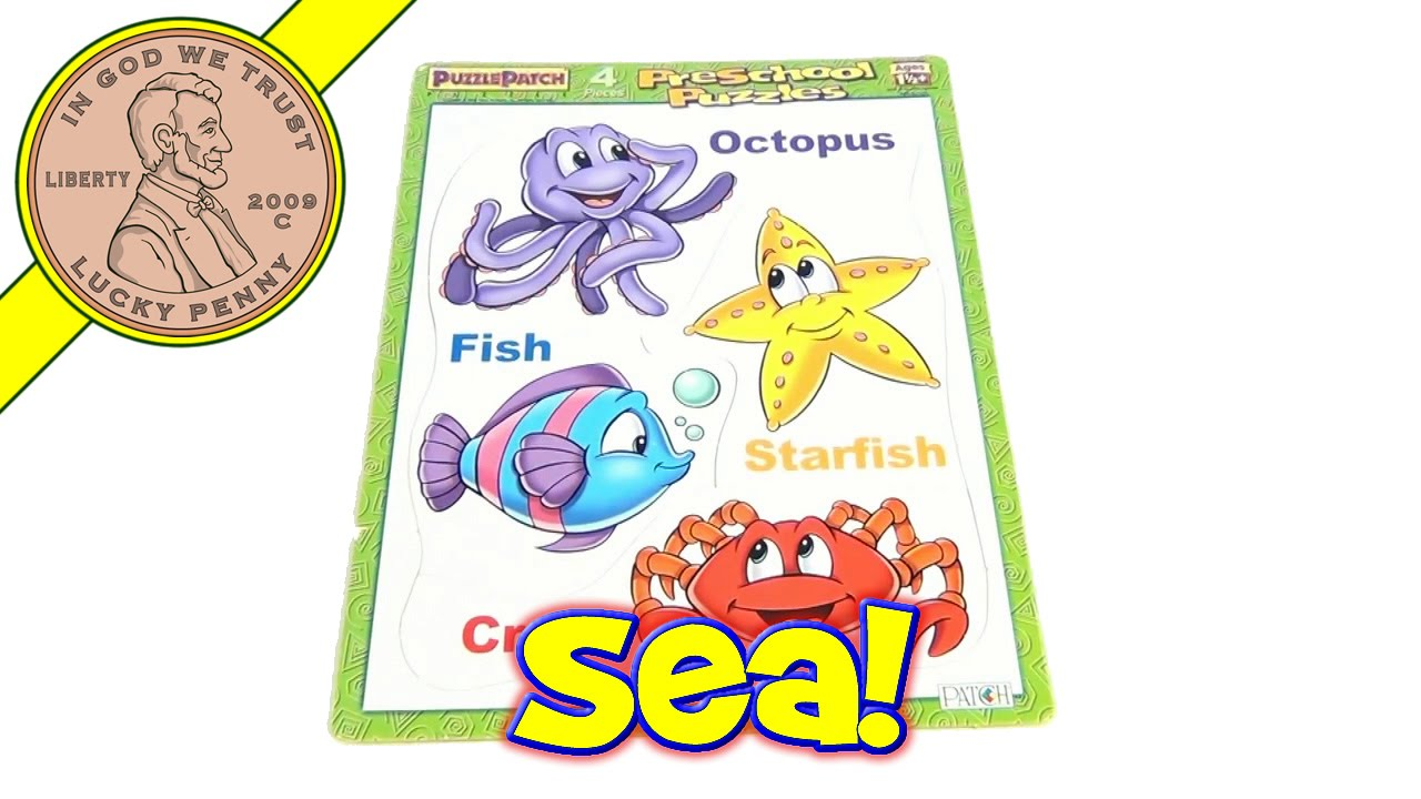 Sea Life Frame Tray Puzzle 2000 - Octopus, Fish, Starfish, Crab ...