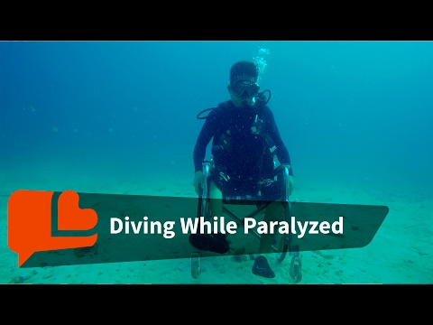 They can't walk but they can dive - the disabled are free underwater