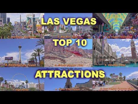 Las Vegas - Top 10 Attractions  2017 4K