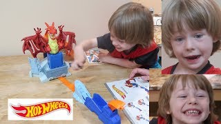 🚗 Hot Wheels DRAGON BLAST Playset Toy Review Assembly 👈 Video
