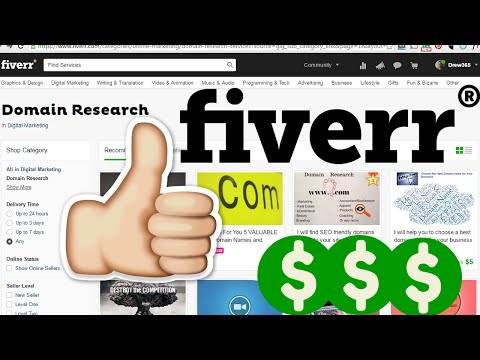 How to Make Money on Fiverr with a Domain Name Research Gig
