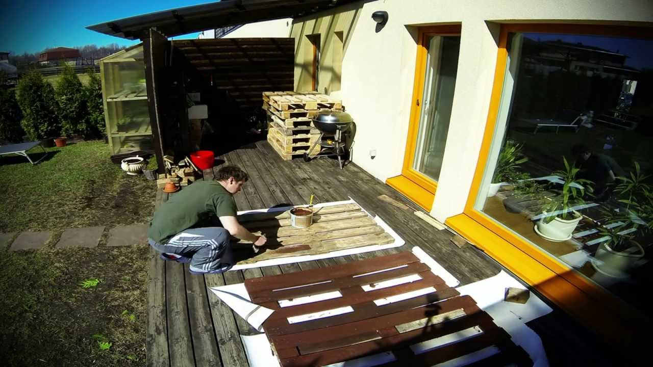How To Make Garden Furniture From Pallets Youtube