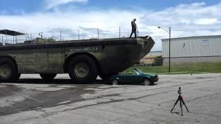 lane motor museum larc lx lighter amphibious resupply cargo 60 ton crushing fiat and bmw 2