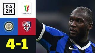 Lukaku lässt Cagliari keine Chance: Inter - Cagliari 4:1 | Coppa Italia | DAZN Highlights