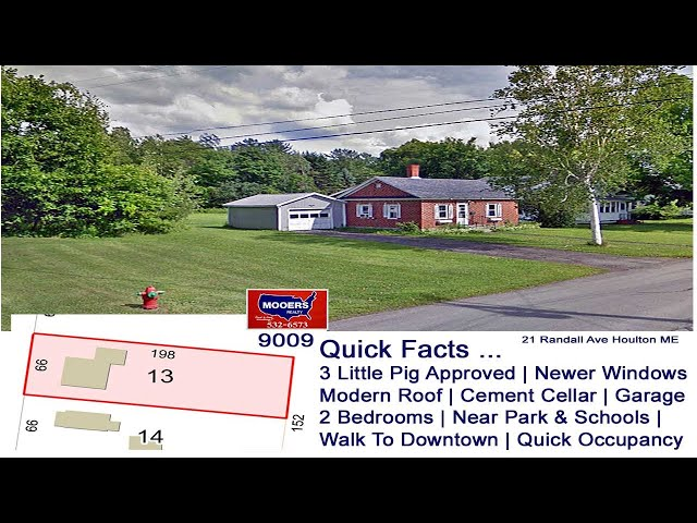 Brick Ranch Home For Sale | Maine Real Estate MOOERS REALTY Property Listing 9009
