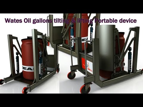Drum Tilting & Lifting Machine  | Machine Design With Solidworks |