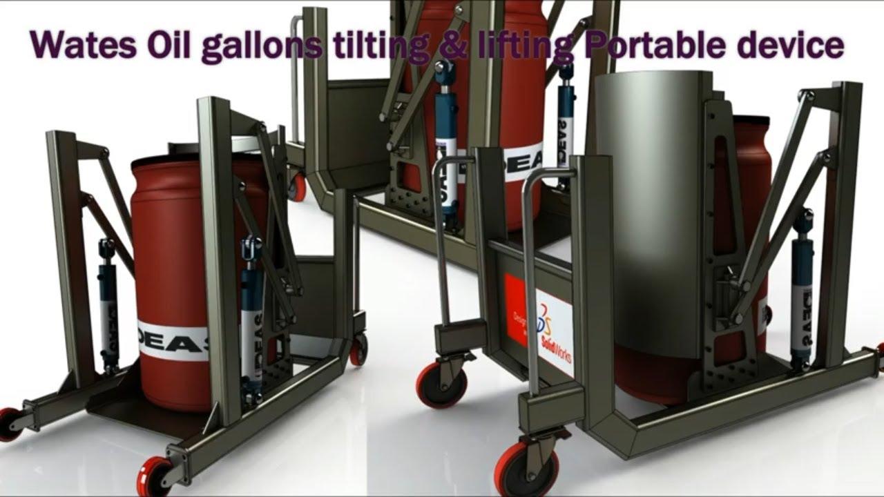 drum tilting lifting machine machine design with solidworks youtube. Black Bedroom Furniture Sets. Home Design Ideas