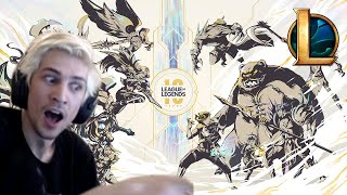 Xqc Reacts To League Of Legends 10 Year Anniversary Announcements With Chat