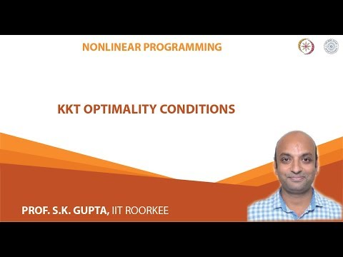 Lecture-06 KKT optimality conditions