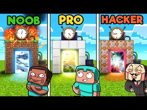 Minecraft - TIME MACHINE! (NOOB vs PRO vs HACKER)